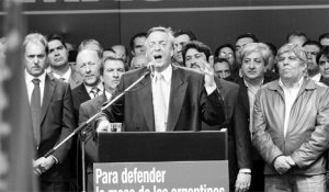 néstor undiendo la 125 en plaza congreso